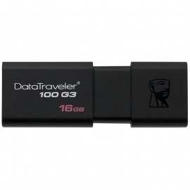 Pen Drive Kingston DataTraveler 100 G3 16 GB - USB 3.0 - Nero - 1/Confezione
