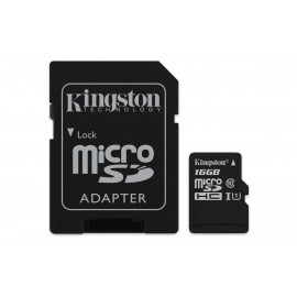 microSDHC Kingston Canvas Select 16 GB - Class 10/UHS-I (U1) - 80 MB/s Lettura - 10 MB/s Scrittura