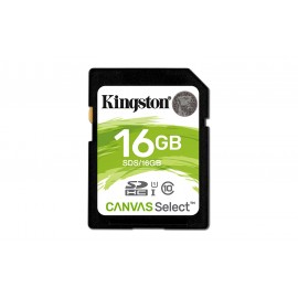 SDHC Kingston Canvas Select 16 GB - Class 10/UHS-I (U1) - 80 MB/s Lettura - 10 MB/s Scrittura