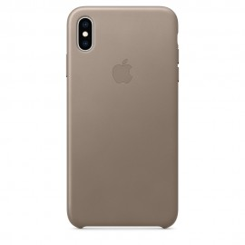 CUSTODIA APPLE IN PELLE PER IPHONE XS MAX - GRIGIO TALPA