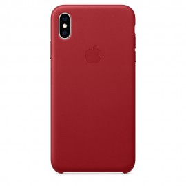 CUSTODIA APPLE IN PELLE PER IPHONE XS MAX - (PRODUCT) RED