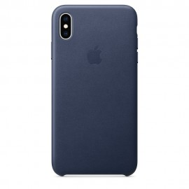 CUSTODIA APPLE IN PELLE PER IPHONE XS MAX - BLU NOTTE