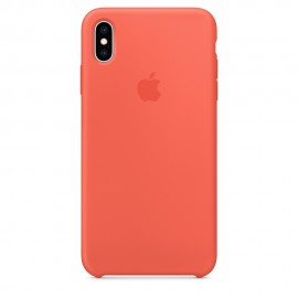 CUSTODIA APPLE IN SILICONE PER IPHONE XS MAX - MANDARINO
