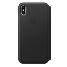 CUSTODIA APPLE FOLIO IN PELLE PER IPHONE XS MAX - NERO