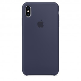 CUSTODIA APPLE IN SILICONE PER IPHONE XS MAX - BLU NOTTE