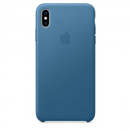 CUSTODIA APPLE IN PELLE PER IPHONE XS MAX - BLU PROFONDO