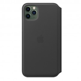 CUSTODIA APPLE FOLIO IN PELLE PER IPHONE 11 PRO MAX - NERO