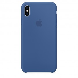 CUSTODIA APPLE IN SILICONE PER IPHONE XS MAX - BLU SMALTO