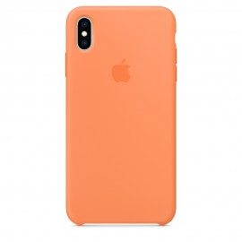 CUSTODIA APPLE IN SILICONE PER IPHONE XS MAX - PAPAYA